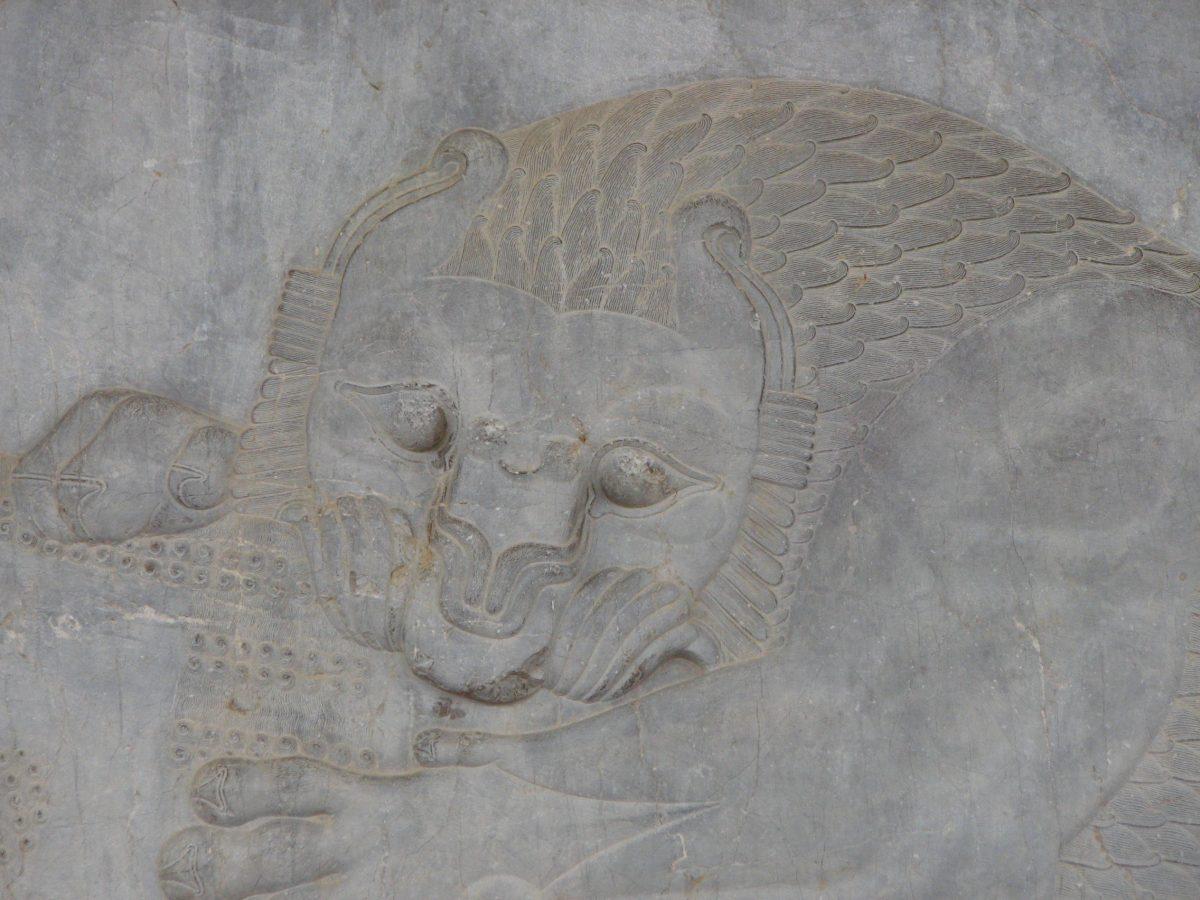نقشی بر پلکان کاخ آپادانا در تخت جمشید
